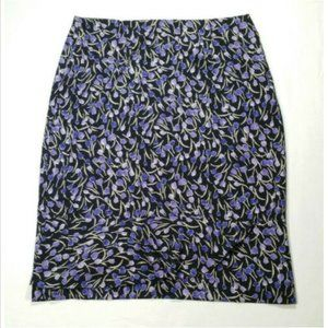 DRESSBARN Floral Straight Pencil Skirt 2774E1M
